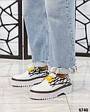 Женские кожаные туфли на макси подошве (разные цвета), фото 9