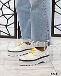 Женские кожаные туфли на макси подошве (разные цвета), фото 10