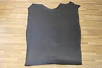 Кожа натуральная ременная черная, гладкая, толщина 3.6 мм, арт. СК 1732