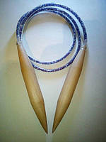 Спицы деревянные для вязания под толстую пряжу 25 мм