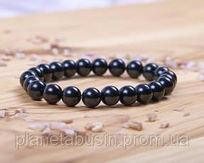 Браслет из черного турмалина, Натуральные камни, Форма камней: Шар, Размер камней: 8 мм, фото 3