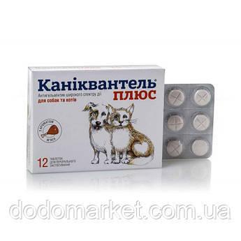 Каниквантель плюс таблетки от глистов для собак и кошек 12 штук