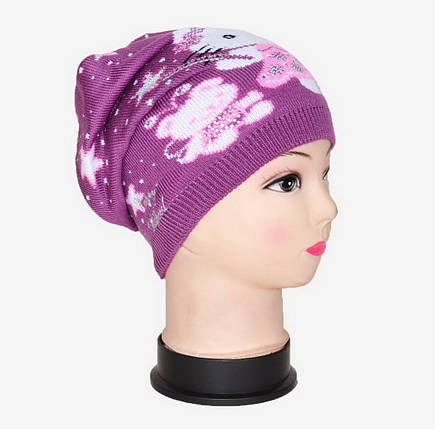 Вязаная шапка на девочку (Арт. WD1441), фото 2