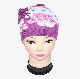 Вязаная шапка на девочку (WD1441)   5 шт., фото 2