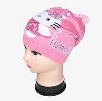 Вязаная шапка на девочку (WD1441)   5 шт., фото 3