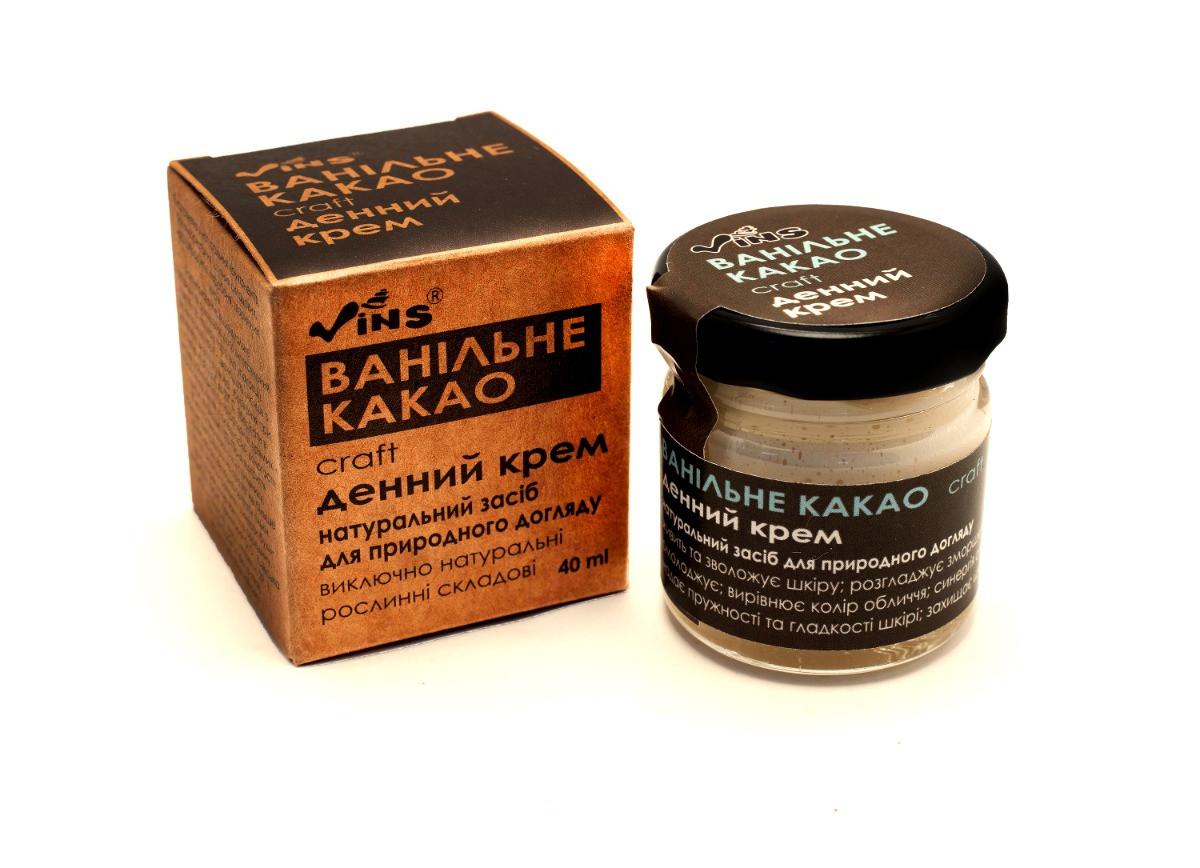 Крем для лица дневной Ванильное какао Vins 40 мл
