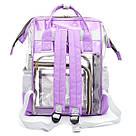 Прозрачная сумка рюкзак женская фиолетовая Maison Fabre., фото 3