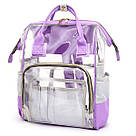 Прозрачная сумка рюкзак женская фиолетовая Maison Fabre., фото 2