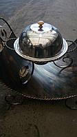 Садж кованный для подогрева шашлыка (блюдо) 28 см с крышкой