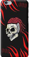 Силиконовый чехол бампер FTS для Apple iPhone 6 Plus /6s Plus с рисунком Моргенштерн череп