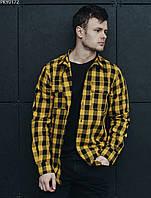 Рубашка Staff yellow & black. [Размеры в наличии: XS,S,M,L,XL]