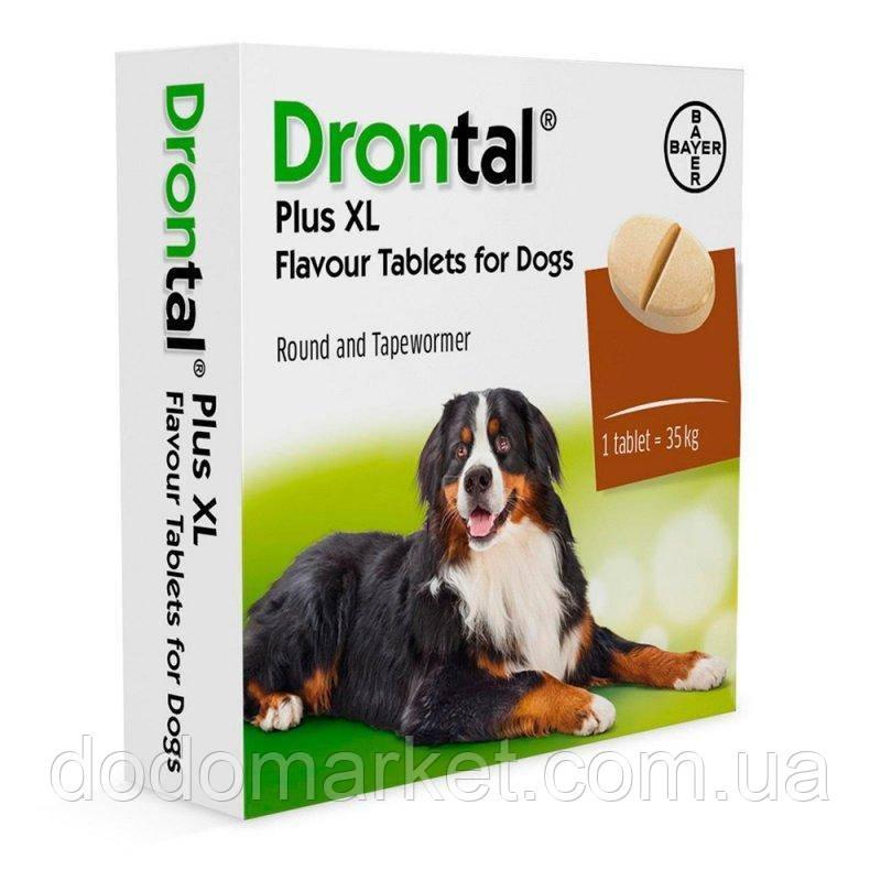 Drontal, Bayer Plus XL № 2 антигельмінтик Байєр Дронтал зі смаком м'яса таблетка на 35 кг