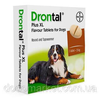 Bayer Drontal Plus XL № 2 антигельминтик Байер Дронтал со вкусом мяса таблетка на 35 кг