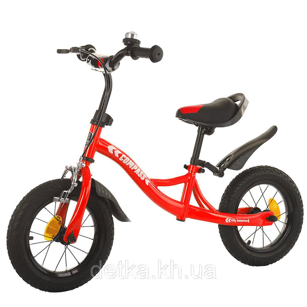 """Беговел (велобег) BALANCE TILLY 12"""" Compass T-21258, цвета в ассортименте Red"""