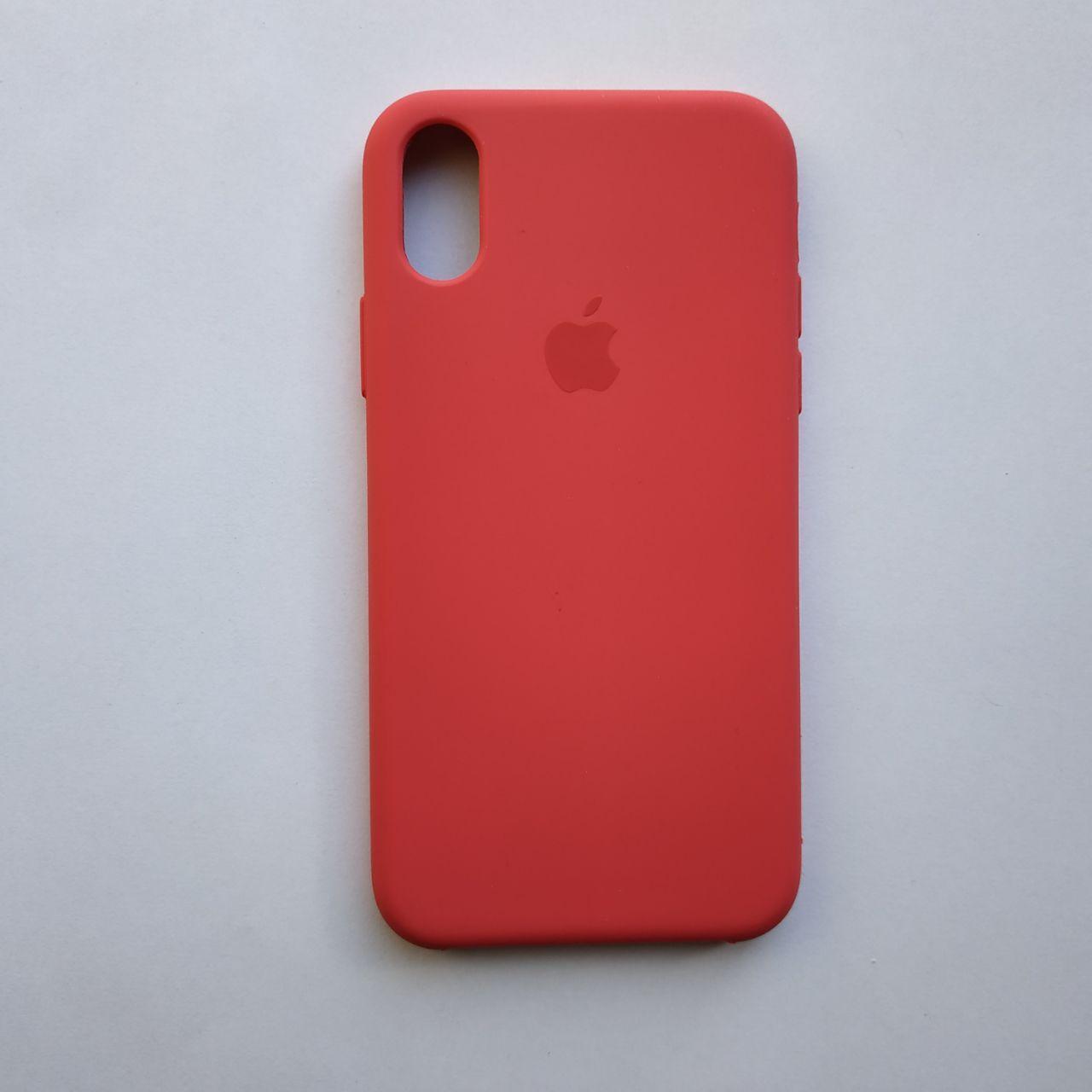 Чехол Silicone Case для Apple iPhone X, XS Camellia