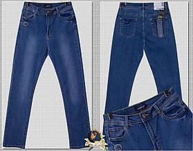 Джинсы женские классические с высокой посадкой светло-синего цвета баталы.