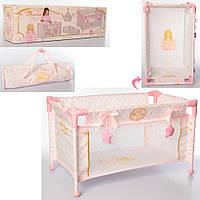 Игровой манеж-кроватка для пупса с сумкой для хранения 50028