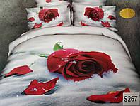 Сатиновое постельное белье евро 3D ELWAY S267