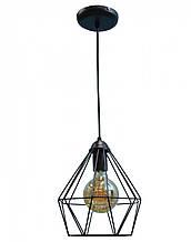 Светильник потолочный подвесной NL 0537 100lamp Е-27 Лофт черный