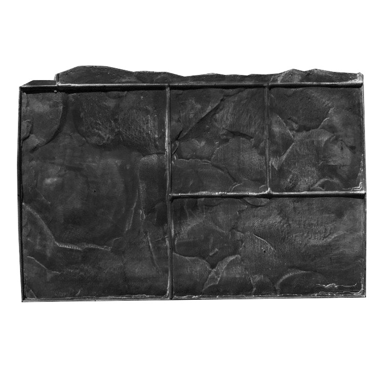 Тёсаный камень №3 - 580*360 мм; профессиональный резиновый штамп для горизонтальной печати по бетону