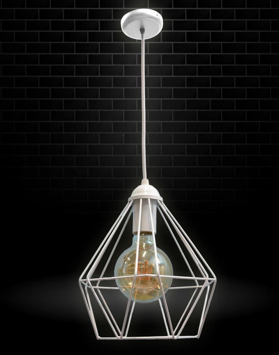 Светильник потолочный подвесной NL 0537 100lamp Е-27 Лофт белый