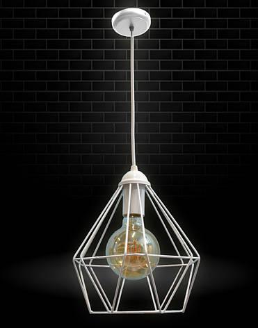 Светильник потолочный подвесной NL 0537 100lamp Е-27 Лофт белый, фото 2