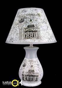 Настольная лампа с абажуром NHB-068 (A+B) A