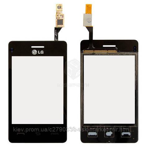Сенсор для LG T370, T375 Cookie Smart Original Black, фото 2