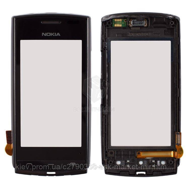Оригинальная сенсорная панель с рамкой для Nokia 500