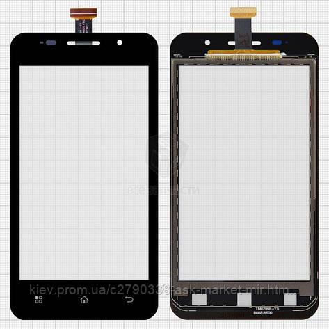 Сенсор для Prestigio MultiPhone 4322 Duo Original Black #TF0200C-YNE B088-A600 FPC, фото 2