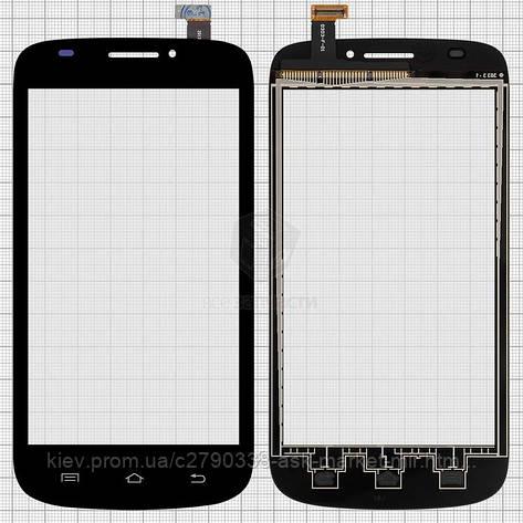 Сенсор для Prestigio MultiPhone 5000 Duo Original Black #ZHT05M05002-FPC-3/0303-F-01, фото 2