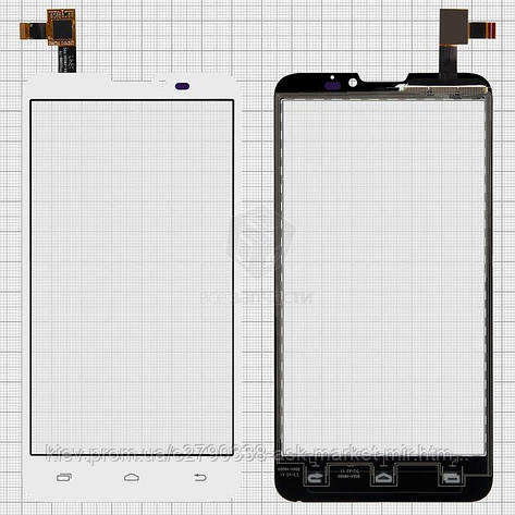 Сенсор для Prestigio MultiPhone 5300 Duo Original White #DJN-AW980-V1.0, фото 2
