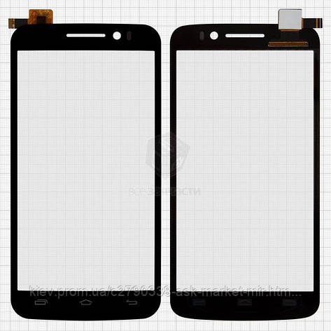 Сенсор для Prestigio MultiPhone 7600 Duo Original Black #FPC-S80127-1 V03, фото 2