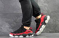 Мужские кроссовки черные с красным Heritage Studio Spaghetti 7761