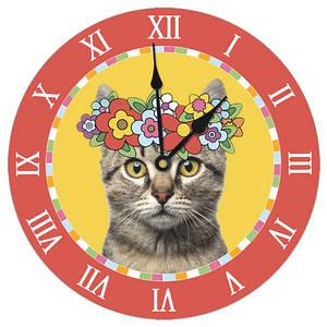 Настенные часы с Котом Патриотом 36 см