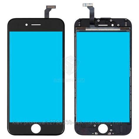 Сенсор для Apple iPhone 6 Original Black С рамкой, фото 2