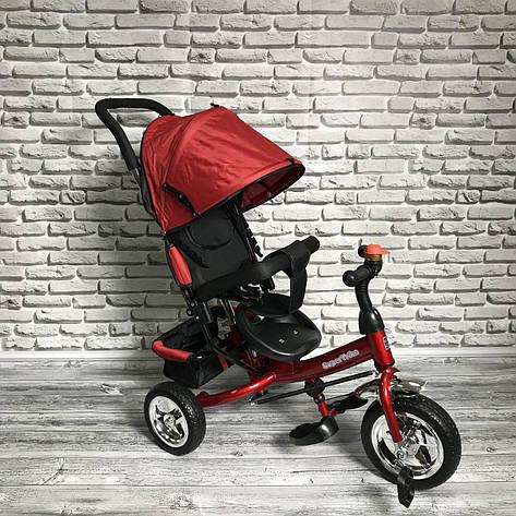 Дитячий триколісний велосипед 5588 ЧЕРВОНИЙ, фото 2