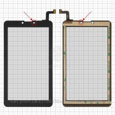 Сенсор для Elenberg TAB740 Original Black 31 pin (184 * 104 мм) #MTCTP-70760/MTCTP-70152/DP070023-F1/ZHC-0525A/FPC-FC70S786-00 FHX/FPC-CY70S217-00, фото 2
