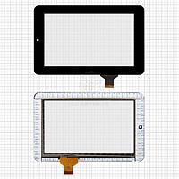 Сенсор для Prestigio MultiPad 3017 Wize, MultiPad 3018 Wize Original Black 30 pin (190 * 120 мм) шлейф 22 мм #HLD-GG705S-G-2028A-CP-V00/HLD-PG708