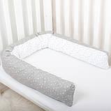 Подушка многофункциональная 200см для мам, кормления, беременных, детей бортики в детскую кровать, фото 2