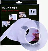 Универсальная двухсторонняя клейкая лента 3 метра Ivy Grip Tape Сверхсильный многоразовый крепежный скотч