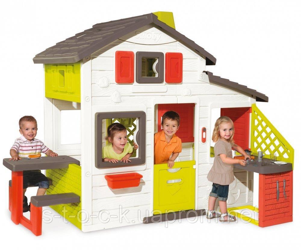 Домик игровой c кухней Friends House Для друзей Smoby 810200