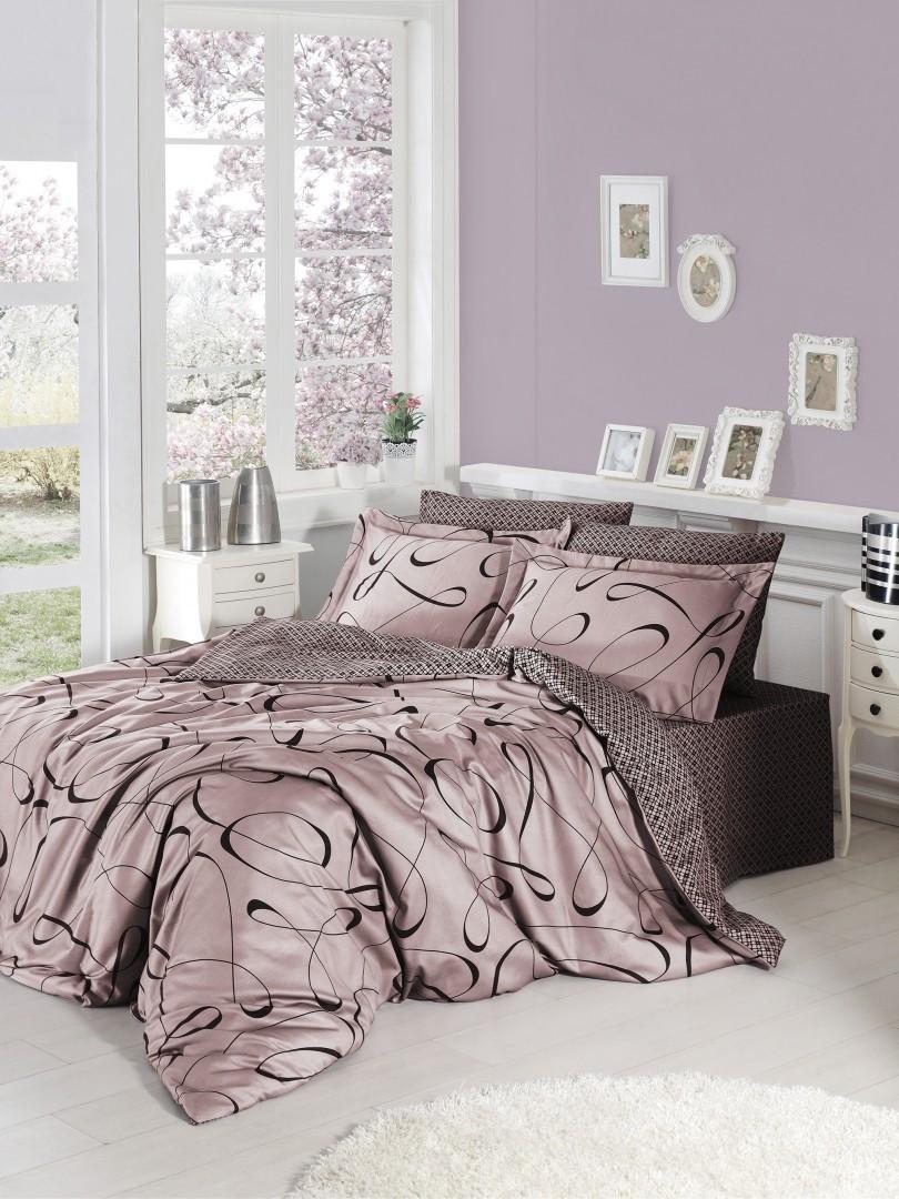 Комплект постельного белья First Choice Satin Calisto pudra