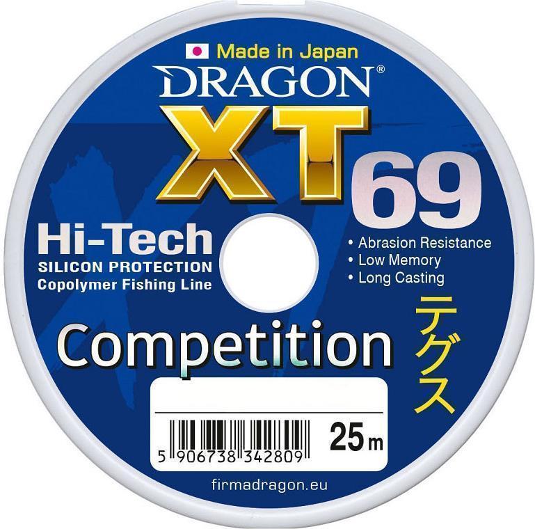 Леска Dragon XT69 Competition 0.18 mm 4.60kg (25x5)