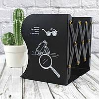 """Підставка для книг металева """"Деталі"""", чорна, Настольная подставка для книг """"Деталі"""""""
