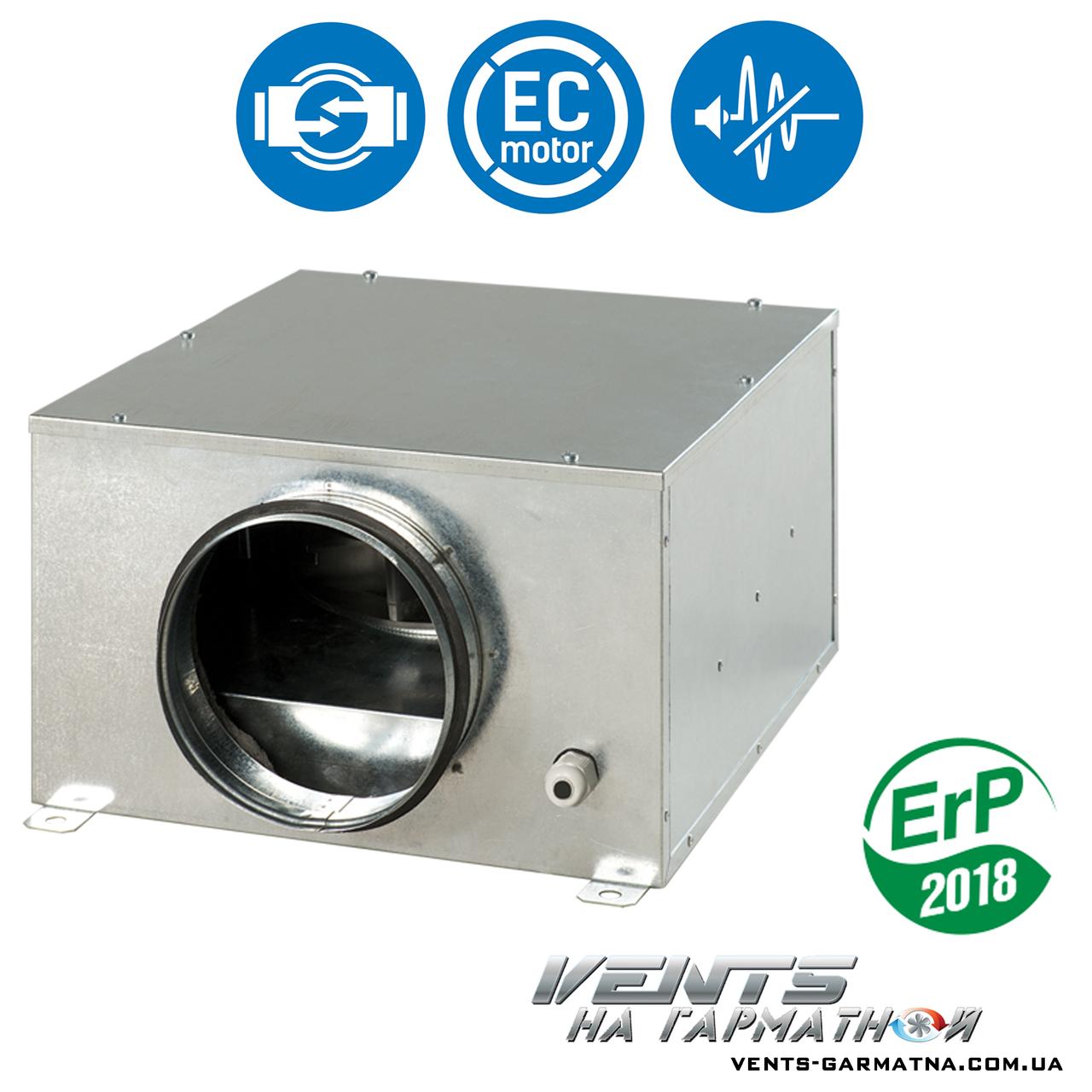 Вентс КСБ 315 ЕС. Шумоизолированный вентилятор с ЕС-мотором