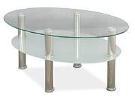 Журнальный стол LEO A прозрачный/хром 90x50x50 (Signal)