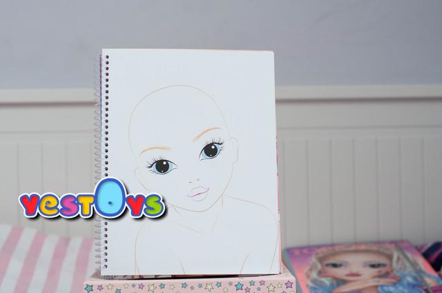 ОП Модел Альбом для раскрашивания Макияж Top Model Make-Up 10728_A