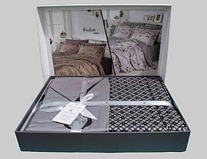 Комплект постельного белья First Choice Satin Calisto gri, фото 2