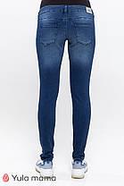 Облегающие джинсы для беременных синего цвета, размеры 42-52, фото 3